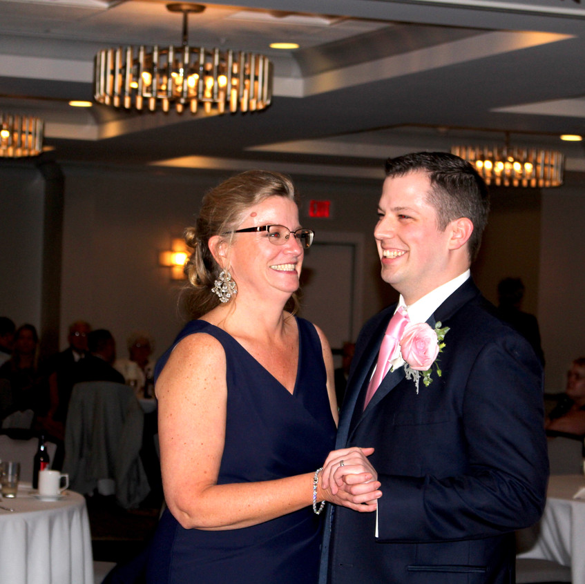Justin and his mother for a Mother son Dance.