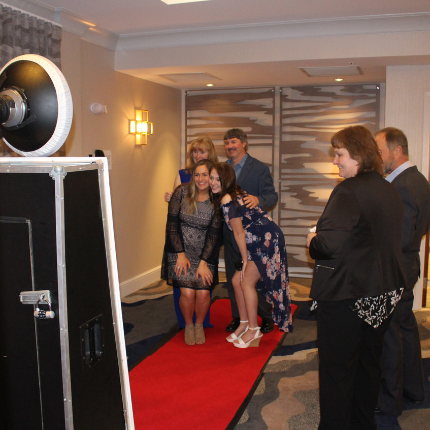 Our custom mirror booth for open air mirror booth fun. Ask about how you can have this option at your event.