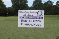 Ross-Clayton Funeral Home Hole Sponsor Sign