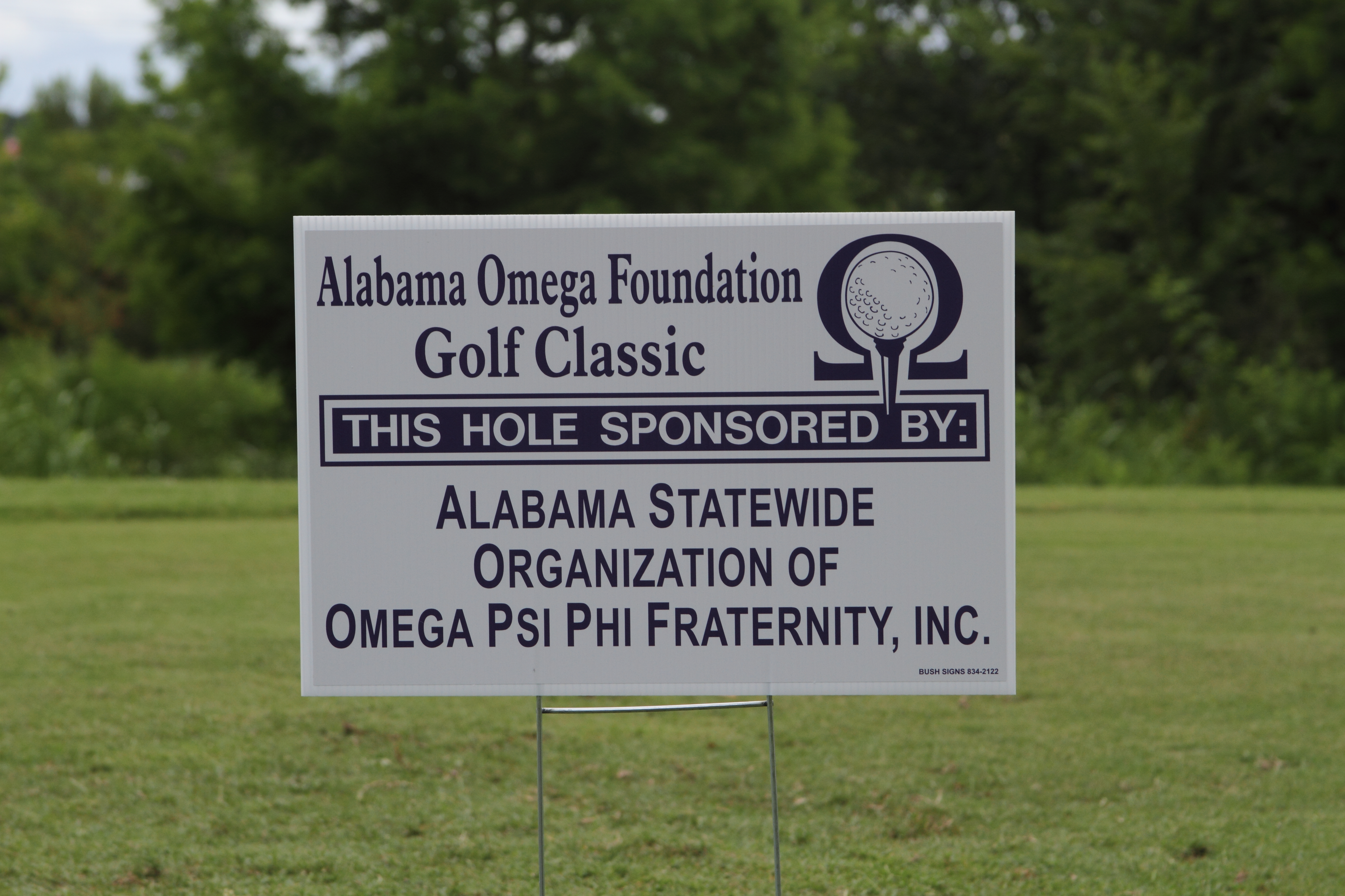 Alabama Statewide Organization hole sponsor sign