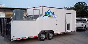PRM Filtration truck pulling trailer