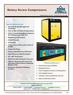 PRM Rotary Screw Compressors