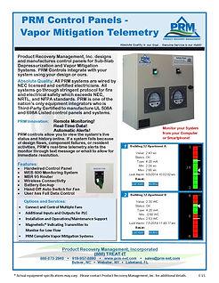PRM Control Panels-Vapor Mitigation Telemetry