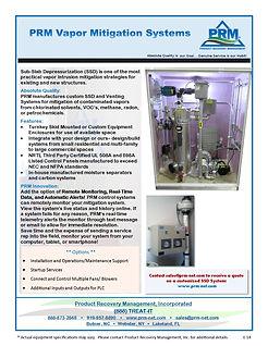 PRM Vapor Mitigation and Sub-Slad Depressurization Systems