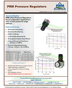 PRM Pressure Regulators