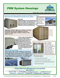 PRM has a NC General Conractor License and ca stickbuld buildingsor containers for your systems or prefabricate the building in our whse and deliver it to the project site.
