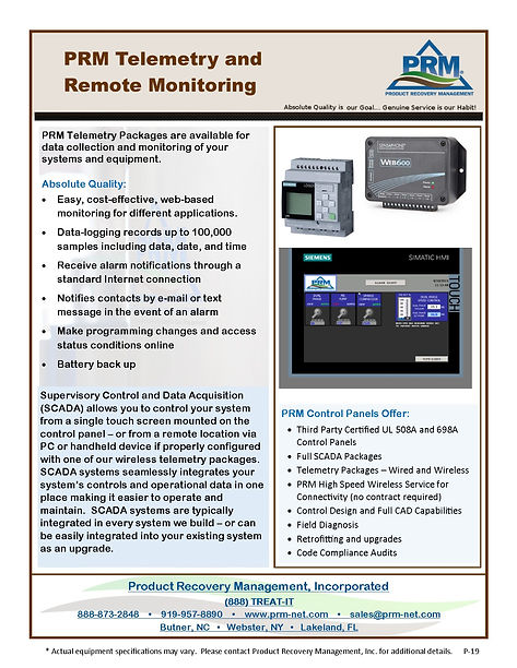 PRM Telemetry and Remote Monitoring