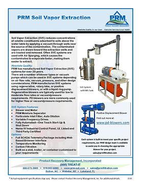 Soil Vapor Extraction (SVE) System Cut Sheet