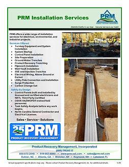 PRM S-09 Installation Services