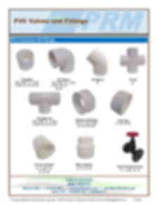 PRM carries a full range of PVC Valves and Fittings in most common sizes. We buy PVC in bulk for our treatment systems so all items are kept in stock for quick delivery.