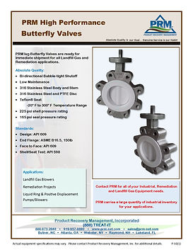 PRM High Performance Butterfly Valves