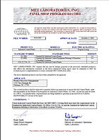 PRM is Third Party Certifid through MET Laboratorie