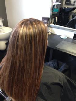 Blonde Highlights Brunette Colour