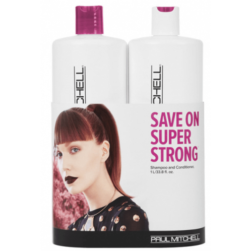 PAUL MITCHELL Limited Edition Super Strong Litre Duo (2 x 1 Litre)