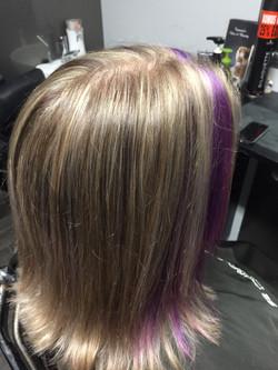 Blonde & Violet Highlights Purple