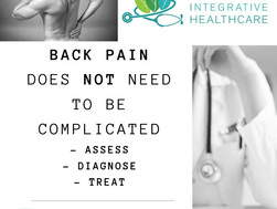Back Pain - Assess, Diagnose, Treat