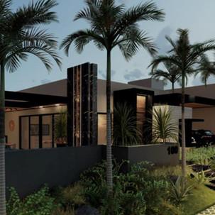 Imagens 3D de Projeto Residencial em Itatiba