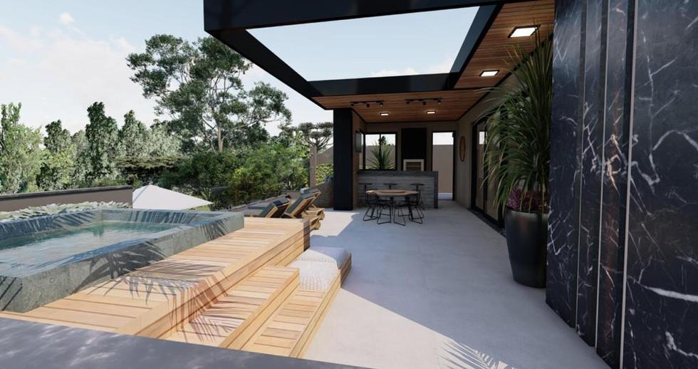 Imagens 3D de projeto residencial em Itatiba-SP. 21/06/2021 - Imagem 4