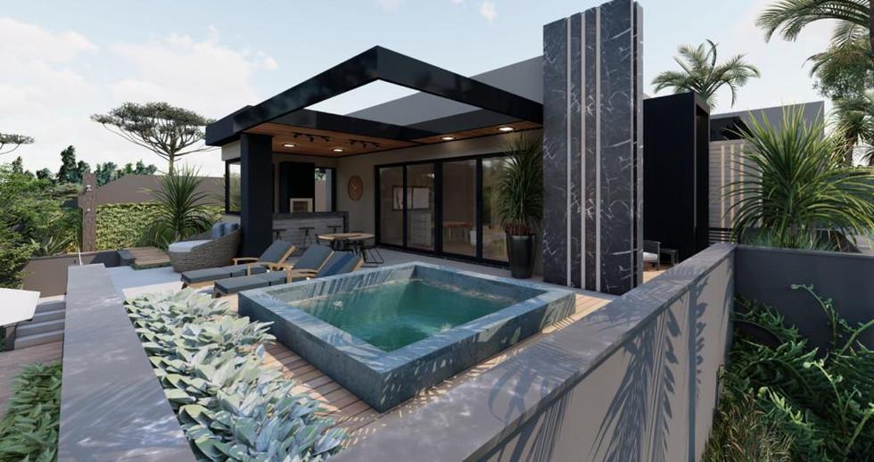 Imagens 3D de projeto residencial em Itatiba-SP. 21/06/2021 - Imagem 1