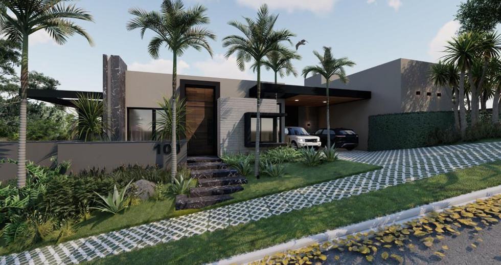 Imagens 3D de projeto residencial em Itatiba-SP. 21/06/2021 - Imagem 3