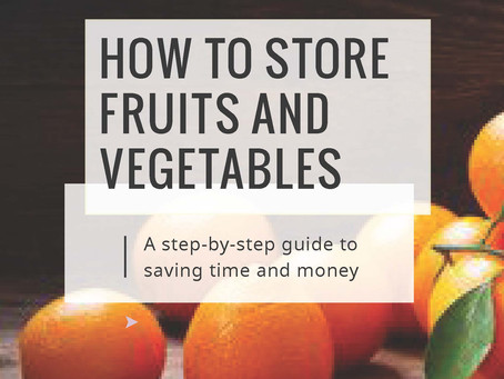 Storing Your Fruit and Vegetables