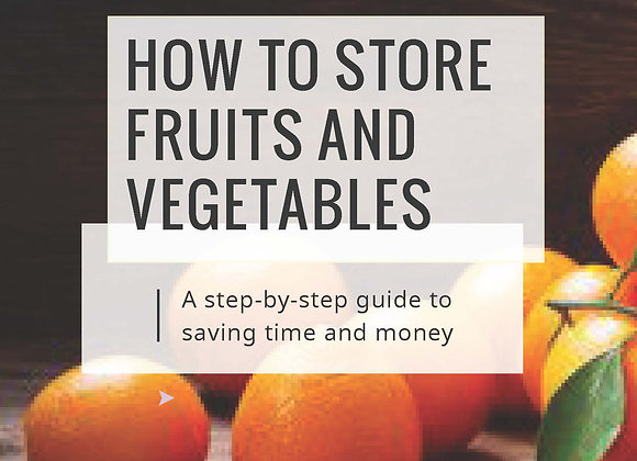 Ebook - How to Store Fruits and Vegetables