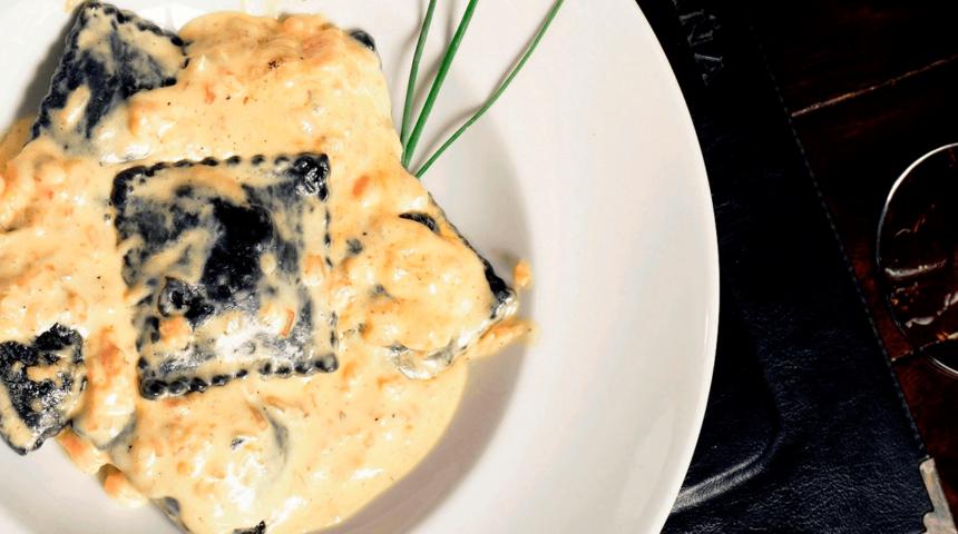 Tortelini de huitlacoche