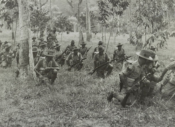 Gurkhas in the Malayan jungle, c.1941