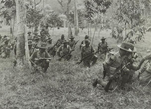 Gurkhas in the Malayan jungle, c.1941
