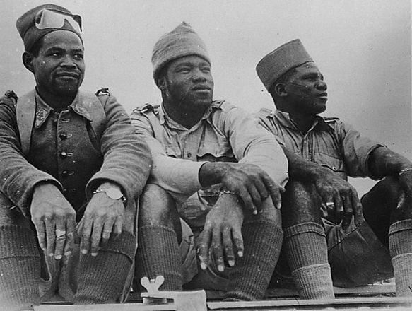 Free French Legion soldiers in Libya, c.1942