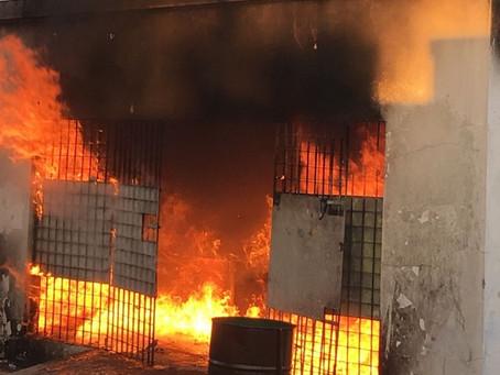 Incêndio é registrado dentro de cemitério durante visitas do Dia de Finados em Caruaru