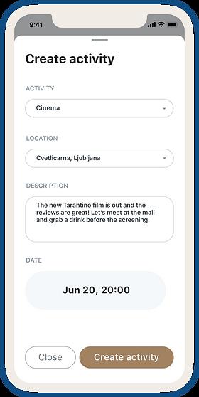 Create Activity Screen