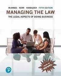 Managing the Law Legal Aspects of Doing Business 5th