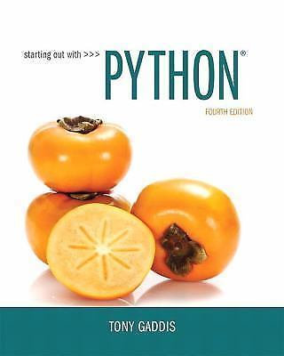 Starting Out with Python by Tony Gaddis (2017)