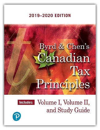Byrd & Chen's Canadian Tax Principles, 2019-2020 Edition, Volumes I and II