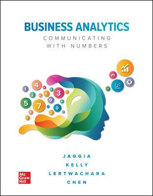 Business Analytics 1E Sanjiv Jaggia