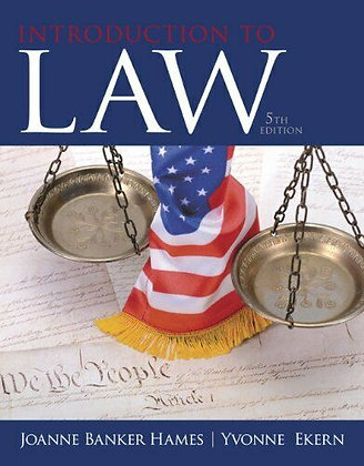 Introduction to Law 5th edition by Joanne B. Hames