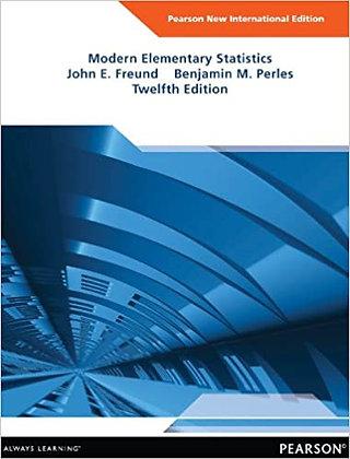Modern Elementary Statistics: Pearson New International Edition 12th Edition