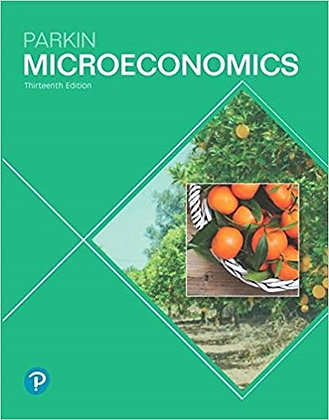 Microeconomics 13th Edition by Parkin