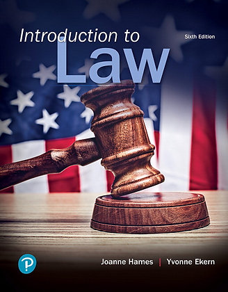 Introduction to Law 6th edition by Joanne B. Hames