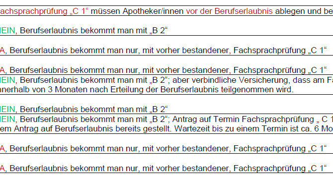 """INFO Fachsprachprüfung """"C 1"""""""