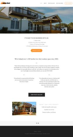 Kelton Deck Company Website Creation