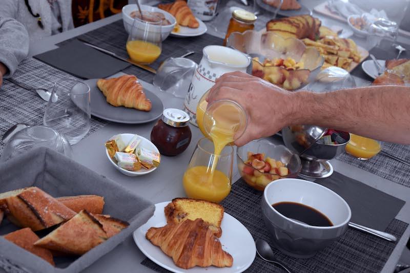 Petit-dejeuner chambre d'hôtes