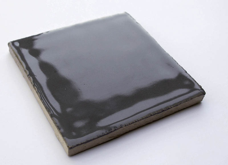 Gray Glossy V handmade ceramic tiles