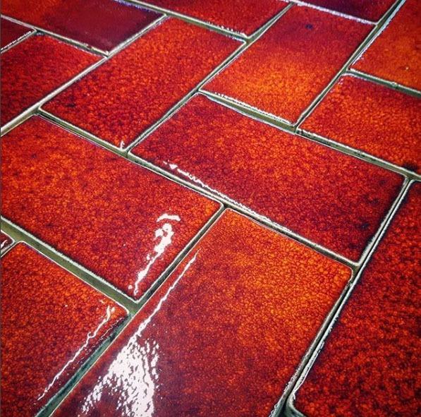 Flaming Orange Metro ceramic handmade ti