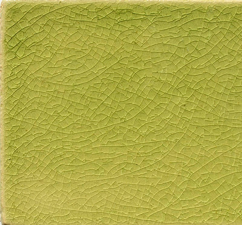 Lime Crackle II handmade tiles