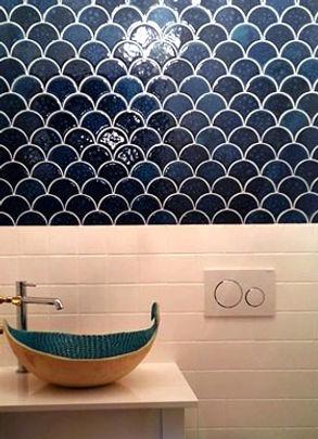 Ocean Fish Scales handmade ceramic tiles
