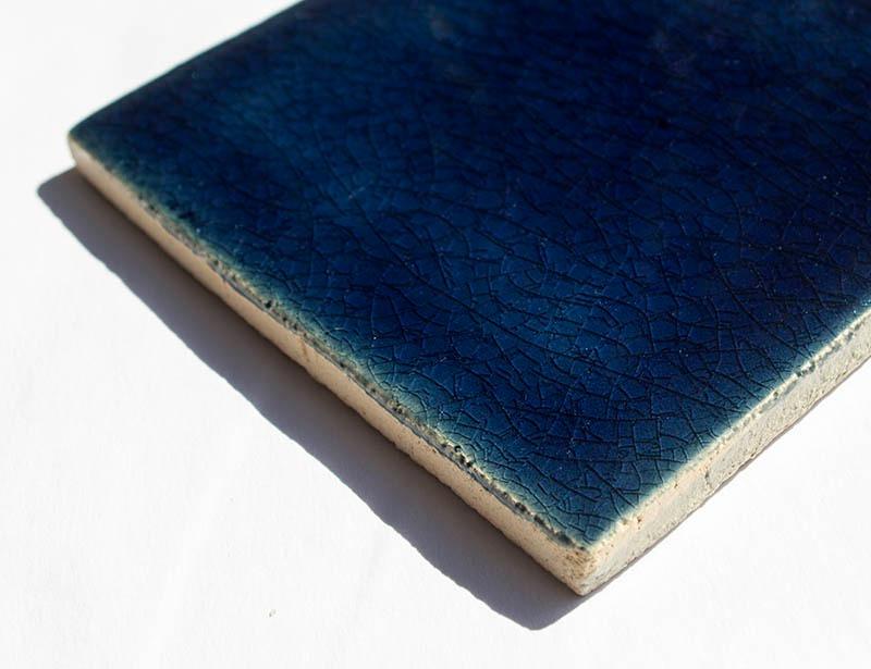 Ultramarine Crackle II handmade ceramic
