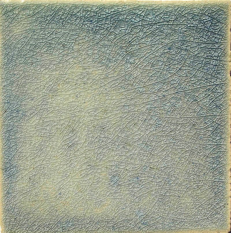 Blue Crackle II handmade tiles