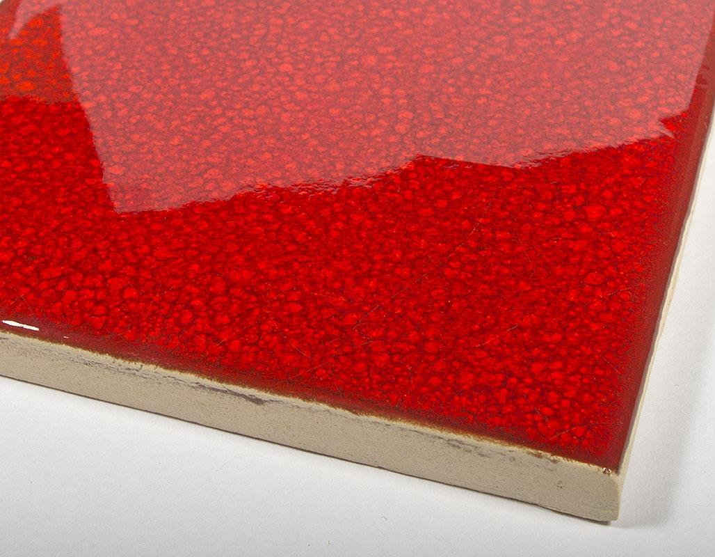 Tulip Red handmade tiles